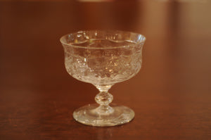 Vintage Rock Sharpe Pattern Low Sherbet Glass - Chestnut Lane Antiques & Interiors - 2