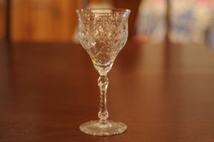 Vintage Rock Sharpe Pattern Water Goblet - Chestnut Lane Antiques & Interiors - 2