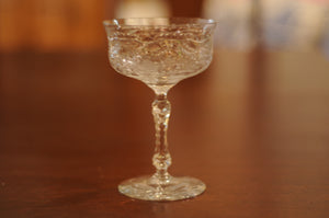 Vintage Rock Sharpe Pattern Tall Sherbet/Champagne Glass - Chestnut Lane Antiques & Interiors - 2