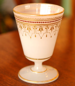 Antique French White Opaline and Gold Accent Goblet Pontil - Chestnut Lane Antiques & Interiors - 2