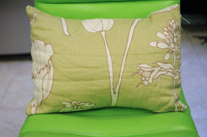 Pear Green Floral Print Pillow - Chestnut Lane Antiques & Interiors - 3