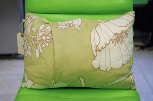 Pear Green Floral Print Pillow - Chestnut Lane Antiques & Interiors - 2