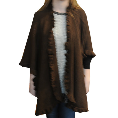 Alpaca Wrap - Chocolate - Chestnut Lane Antiques & Interiors - 1
