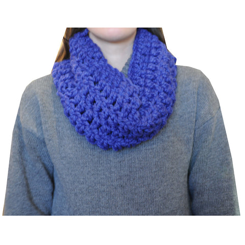 Locally Handcrafted Infinity Scarf - Blueberry - Chestnut Lane Antiques & Interiors