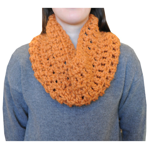 Locally Handcrafted Infinity Scarf - Pumpkin - Chestnut Lane Antiques & Interiors