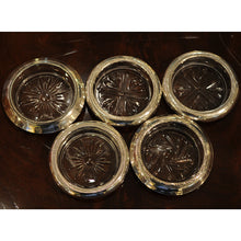 Load image into Gallery viewer, Set of 5 Sterling Silver and Cut Glass Coasters - Chestnut Lane Antiques & Interiors - 2
