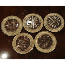 Load image into Gallery viewer, Set of 5 Sterling Silver and Cut Glass Coasters - Chestnut Lane Antiques & Interiors - 3