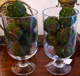 Etched Glass Hurricane Globes - Chestnut Lane Antiques & Interiors - 2