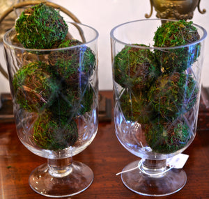 Etched Glass Hurricane Globes - Chestnut Lane Antiques & Interiors - 3