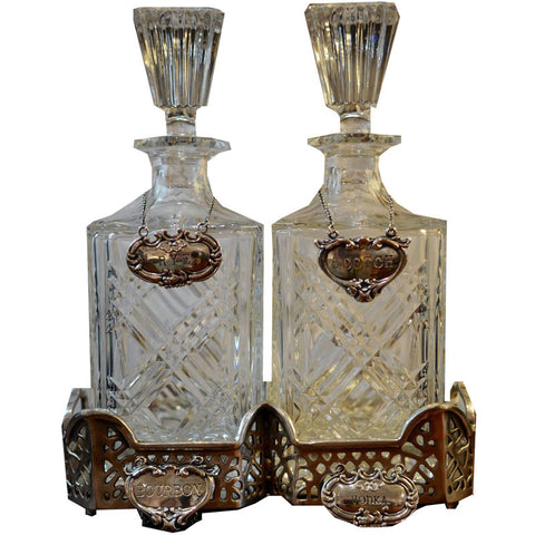 Vintage Wallace Sterling Silver Decanter Labels - Chestnut Lane Antiques & Interiors - 1
