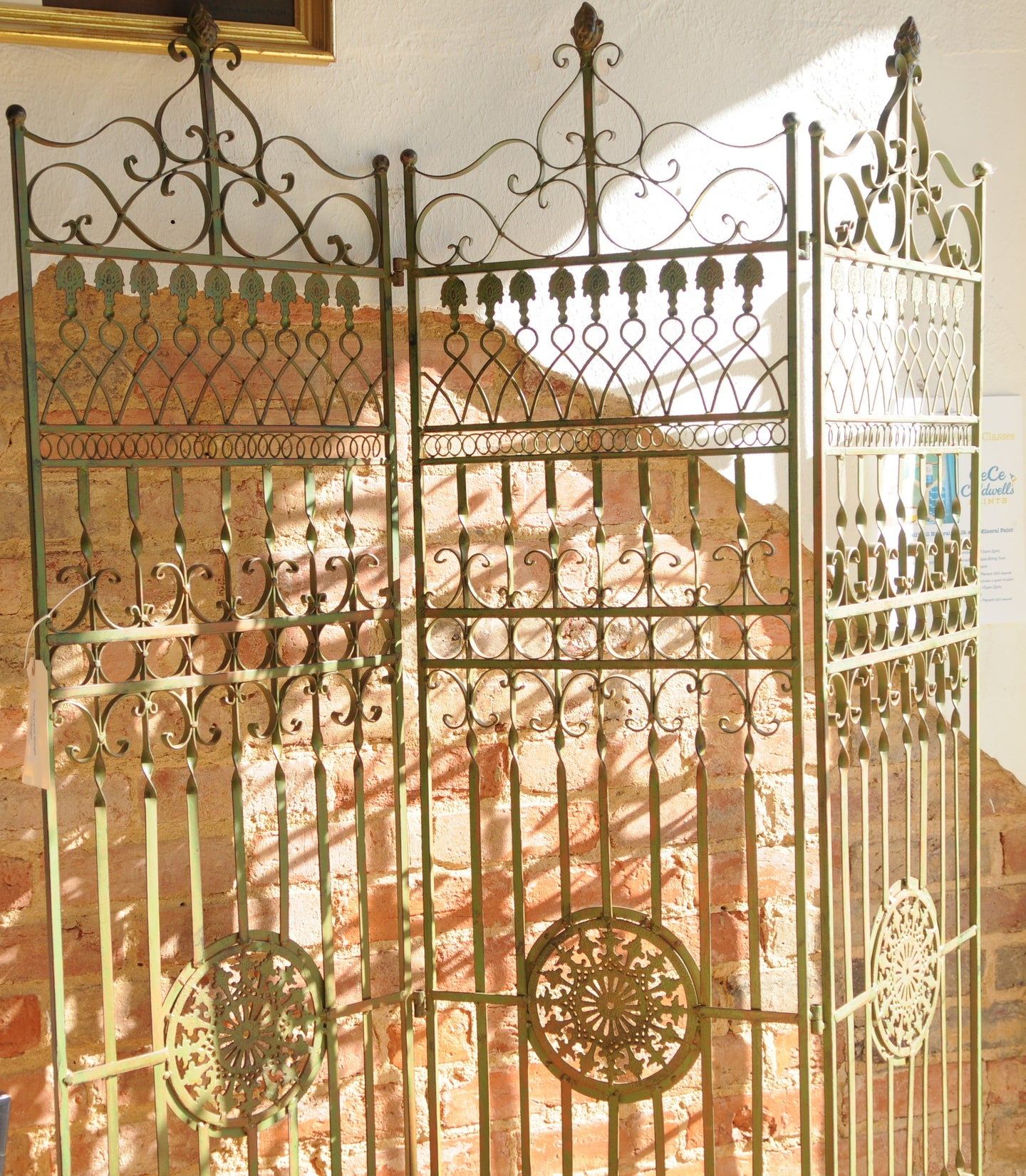 Antique French Wrought Iron Screen/Architectural  Piece - Chestnut Lane Antiques & Interiors - 1