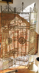 Antique French Wrought Iron Screen/Architectural  Piece - Chestnut Lane Antiques & Interiors - 2