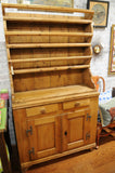 19th Century Antique French Pine Pewter Cupboard