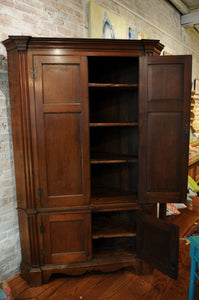 Southern 19th Century Walnut Corner Cupboard