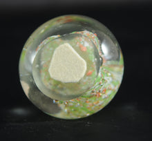 Load image into Gallery viewer, Small Pairpoint Clear, Green, and Coral with Large White Middle Paperweight - Chestnut Lane Antiques & Interiors - 4