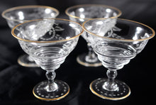 Load image into Gallery viewer, Antique Etched Crystal French Sherberts Set of 4 - Chestnut Lane Antiques & Interiors - 2