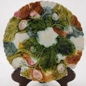 Antique Majolica Strawberry Plate 19th Century - Chestnut Lane Antiques & Interiors - 3