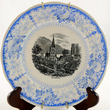 "Load image into Gallery viewer, Blue and White Antique Transferware Plate ""Bacharach"" - Chestnut Lane Antiques & Interiors - 2"