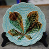 Set of Six Rorstrand Majolica Horse Chestnut Leaf Plate