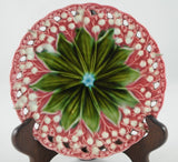 Schramberg Villeroy and Boch German Majolica Lily of the Valley Plate Very Rare - Chestnut Lane Antiques & Interiors - 3