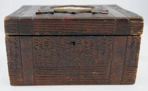 Antique Rustic Tea Caddy English 1850-1890 - Chestnut Lane Antiques & Interiors - 5