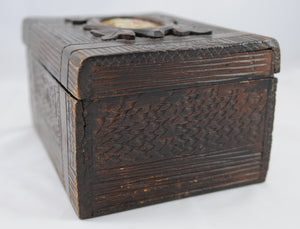 Antique Rustic Tea Caddy English 1850-1890 - Chestnut Lane Antiques & Interiors - 3