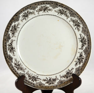 Brown French Transferware Plate - Chestnut Lane Antiques & Interiors - 2