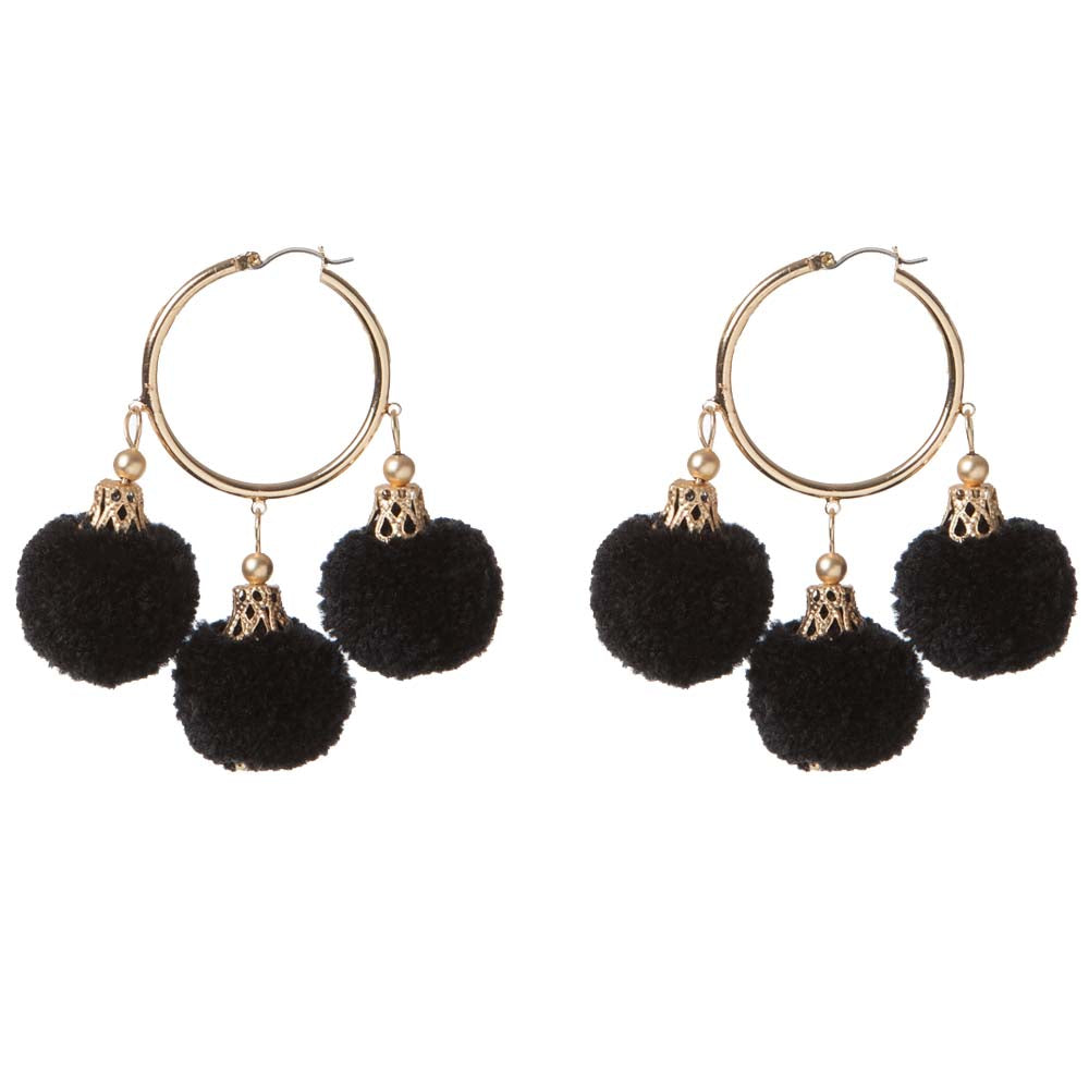 Fiesta Earrings - Black