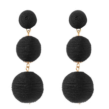Load image into Gallery viewer, Wellington Earrings - Black