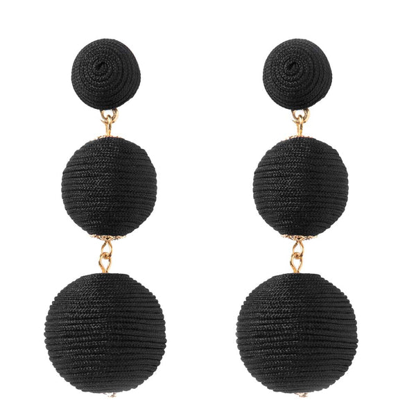 Wellington Earrings - Black