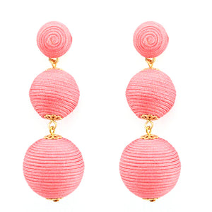 Wellington Earrings - Rose