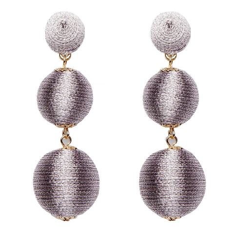 Wellington Earrings - Metallic Mauve