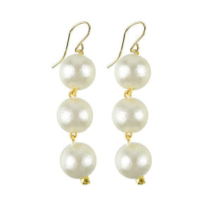 Europa Cotton Pearl Earrings