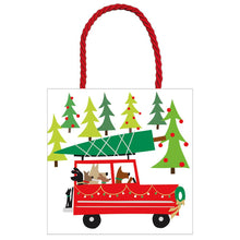 "Load image into Gallery viewer, Caspari Small Square Gift Bag - ""Doggy Tree Adventure"""
