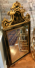 Load image into Gallery viewer, Black and Gold Lacquer Chinoiserie Mirror