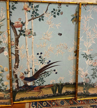 Load image into Gallery viewer, Framed Chinoiserie Wallpaper Panels