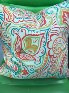 Custom Made Reversible Rainbow Sherbet Pillow