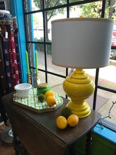 Load image into Gallery viewer, Yellow Lamp with Shade