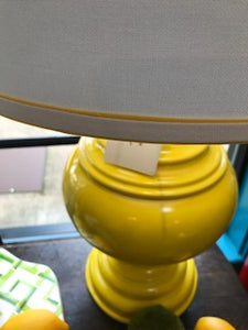 Yellow Lamp with Shade