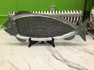 Vintage Brushed Metal Fish Tray