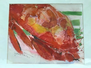 "Jane Carter Watercolor ""A Big Crab"""