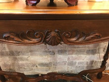 Load image into Gallery viewer, Carved Mahogany Console Table