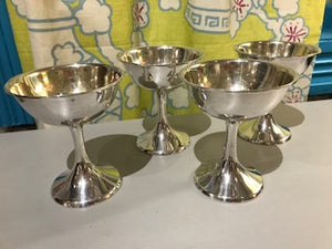 Set of Four Sterling Silver Sherbert Compotes