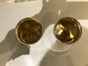 Set of Two Antique Sterling Silver Cups