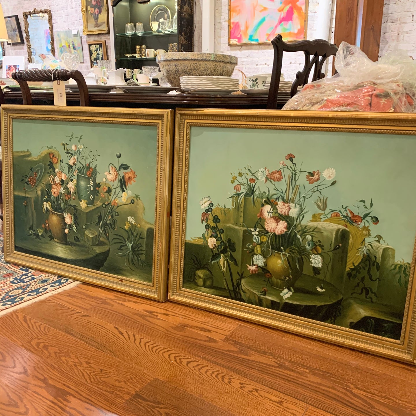 Pair of Chelsea House Floral Still Life Paintings