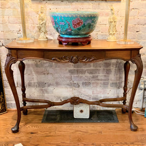 Carved Mahogany Console Table