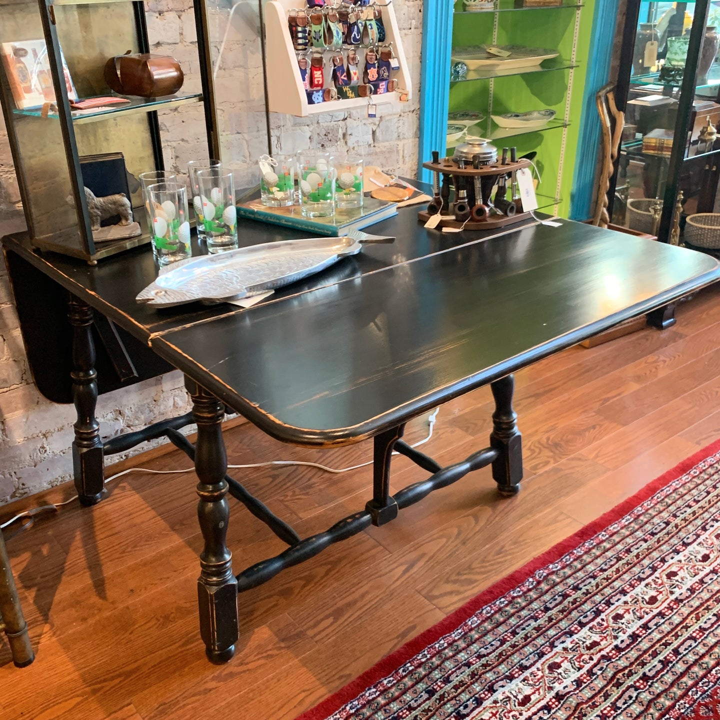 Painted Drop Leaf Kitchen Table