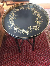 Load image into Gallery viewer, Black and Gold Monkey Tray Table