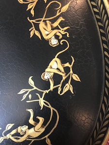 Black and Gold Monkey Tray Table