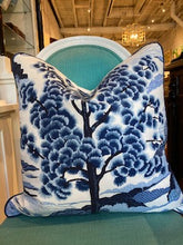 Load image into Gallery viewer, Custom Made Thibaut Blue and White Chinoiserie Pillow